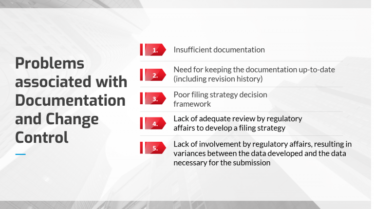 Problems associated with Documentation and Change Control